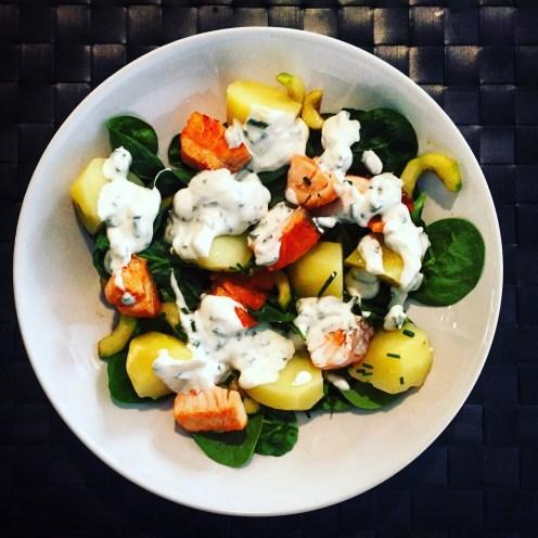 Pan-Seared Salmon, Potato & Cucumber Salad - The Beginner's Cookbook Recipe