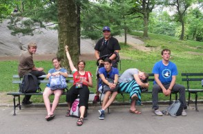 Family portrait in central park