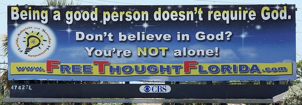 good person atheist billboard