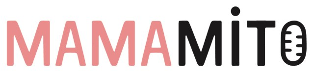Logo of the MamaMito project which features the name in rose (Mama) and black (Mito).