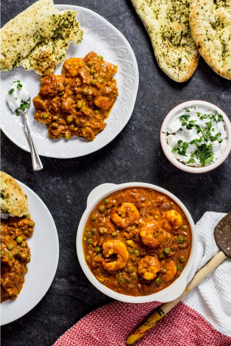 King Prawn Masala Curry. Recipe and Food Photography by Shika Finnemore, The Bellephant.