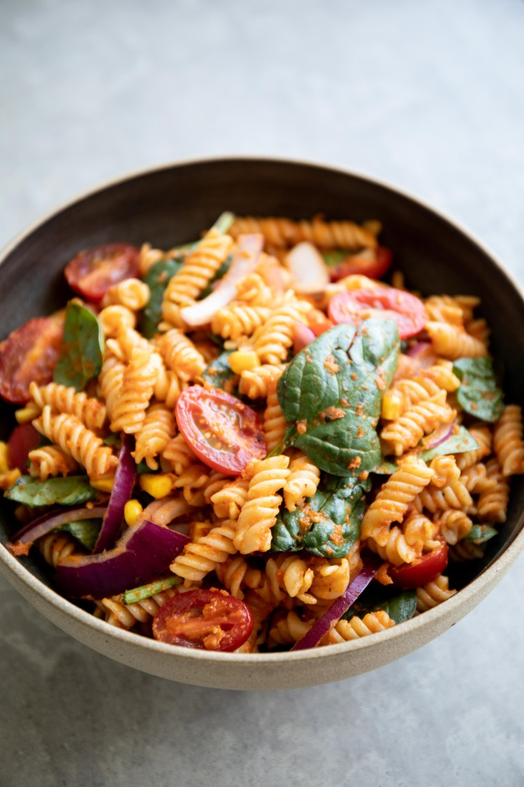 Spicy Sun-Dried Tomato Pasta Salad Recipe and Food Photography by Shika Finnemore, The Bellephant