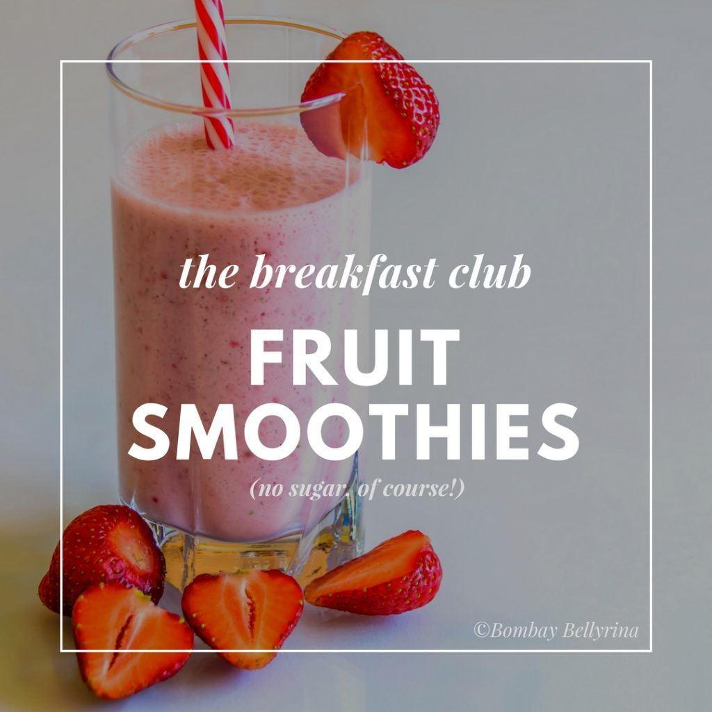 Healthy Options When Eating Out - Fruit smoothies