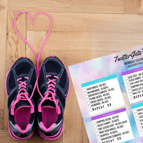 Workout Calendar Printable | Indian Fitness Blog | The Bellyrina Diaries