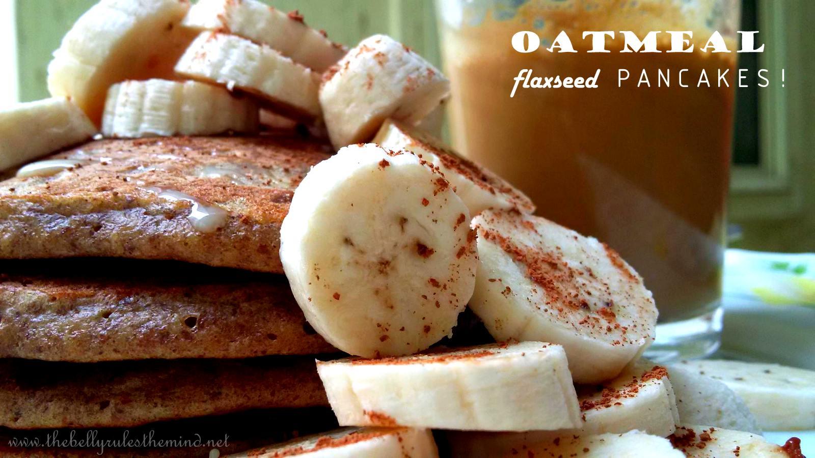 oatmeal flax seed pancakes