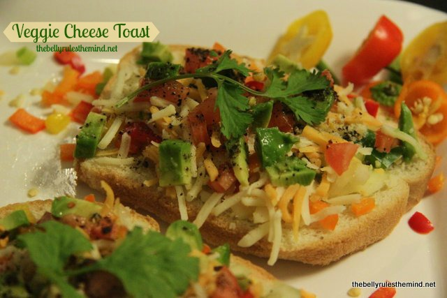 Recipe for Veggie Cheese Toasts