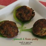 Spinach & Beans Patties made in Appe pan