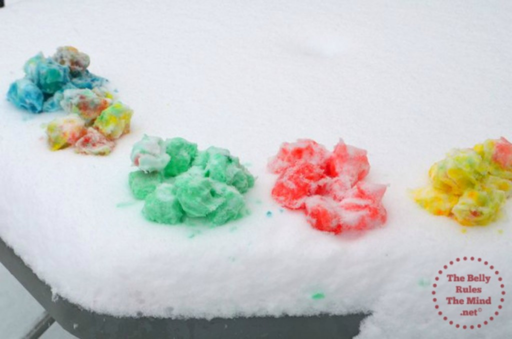 Colored snowballs for Holi