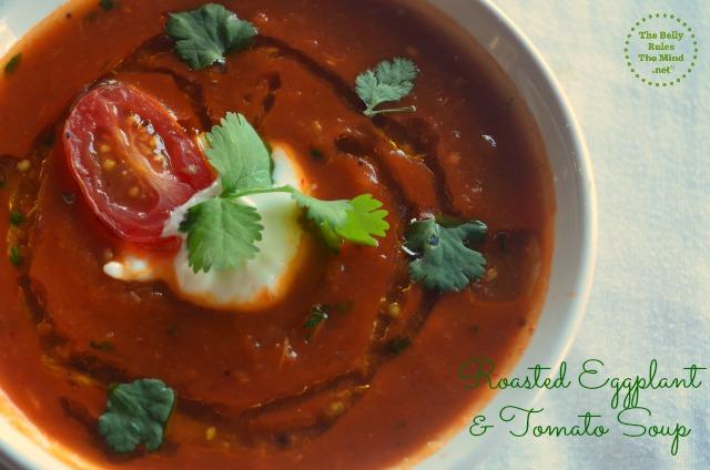 Roasted eggplant & Tomato soup