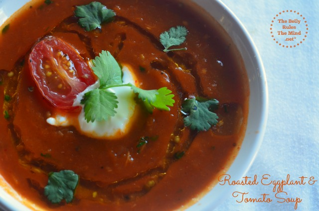 Roasted Eggplant & tomato doup