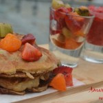 Amaranth Pancakes with Fruits