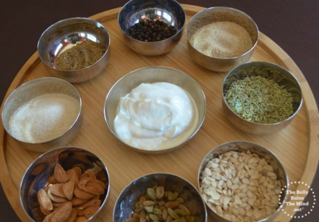 Ingredients for Thandai paste