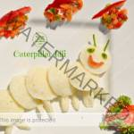 Mini Caterpillar Idli  (food art)