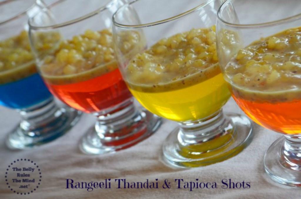 Rangeeli Thandai & Tapioca shots 1