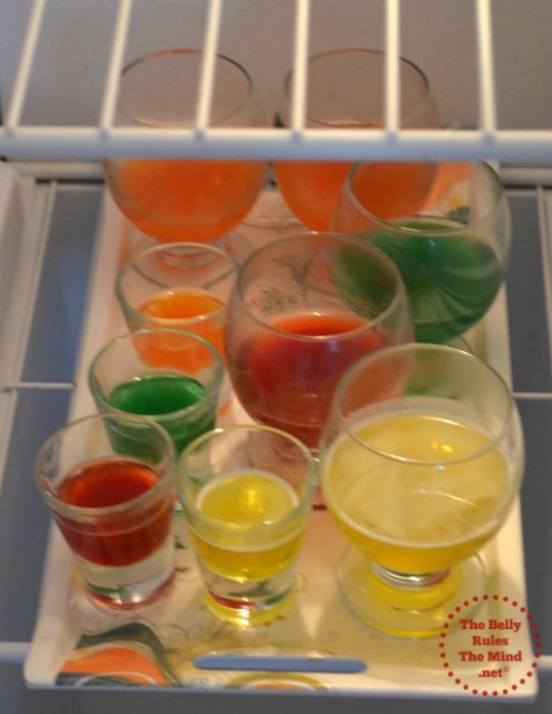 setting jello in the refrigerator