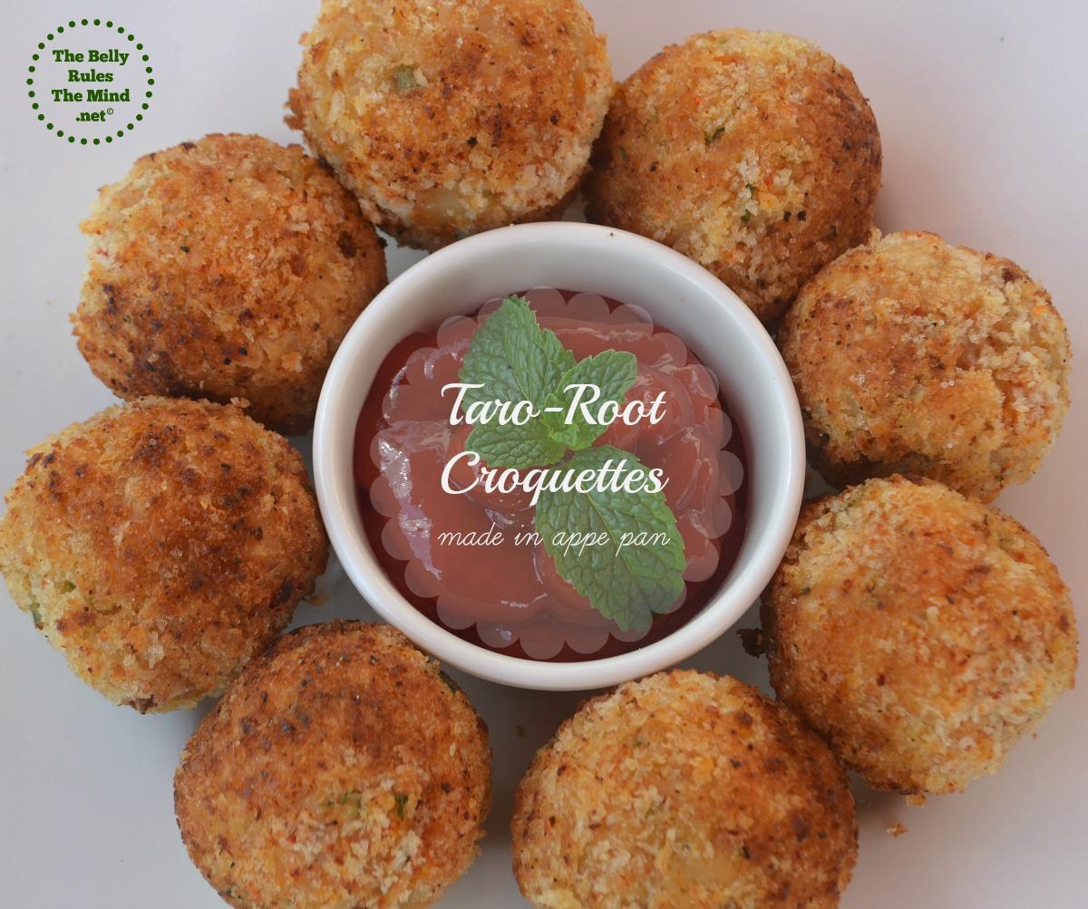 Taro- root Croquettes