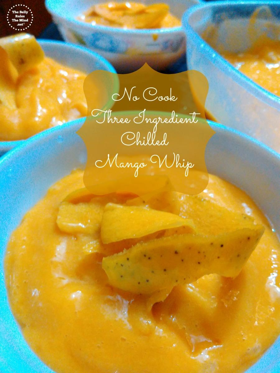 Three Ingredient No Cook Chilled Mango Whip.