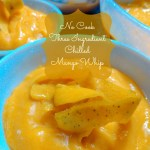 Three Ingredient No Cook Chilled Mango Whip.