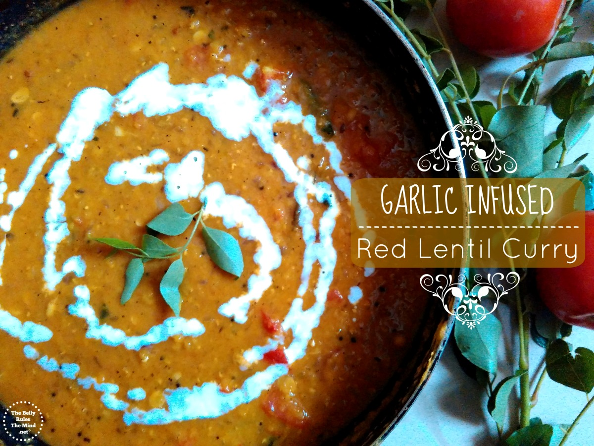 Garlic Infused Red Lentil Curry