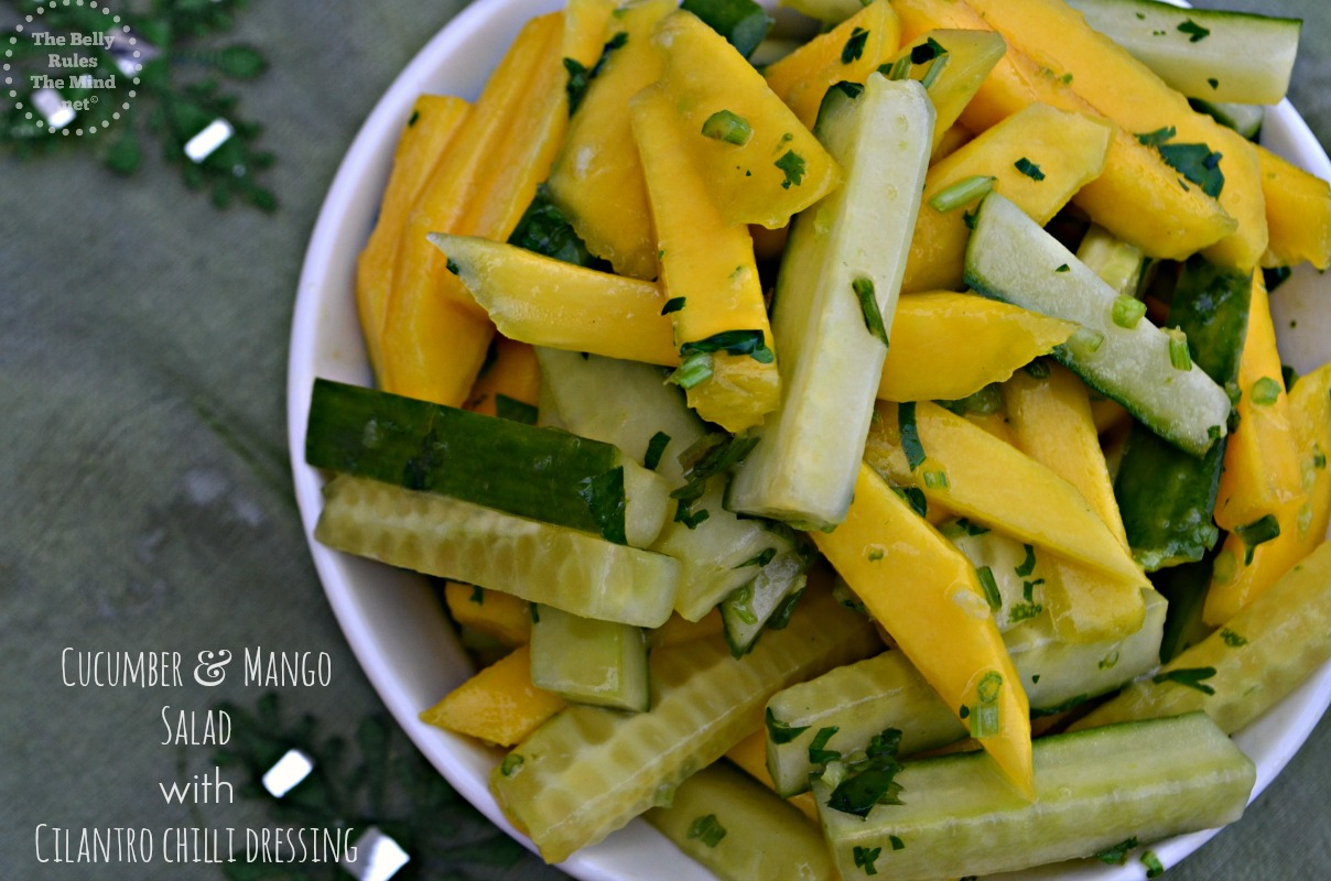 Cucumber & Mango Salad with Cilantro chilli dressing
