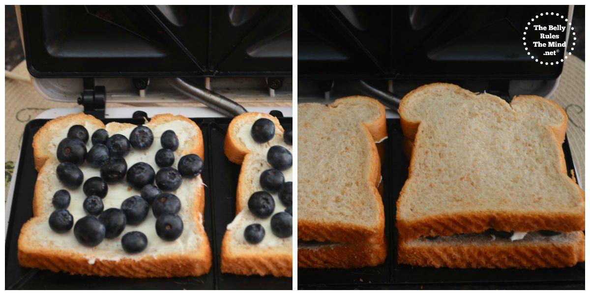 grilled blueberry sandwich