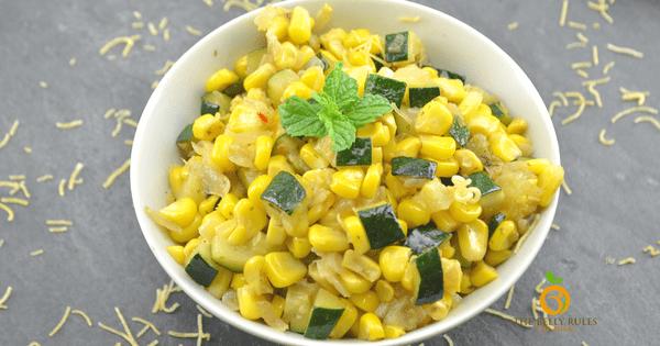 Zucchini & Corn Sabzi / Saute