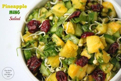 Pineapple Mung Salad (Vegan + Gluten Free)