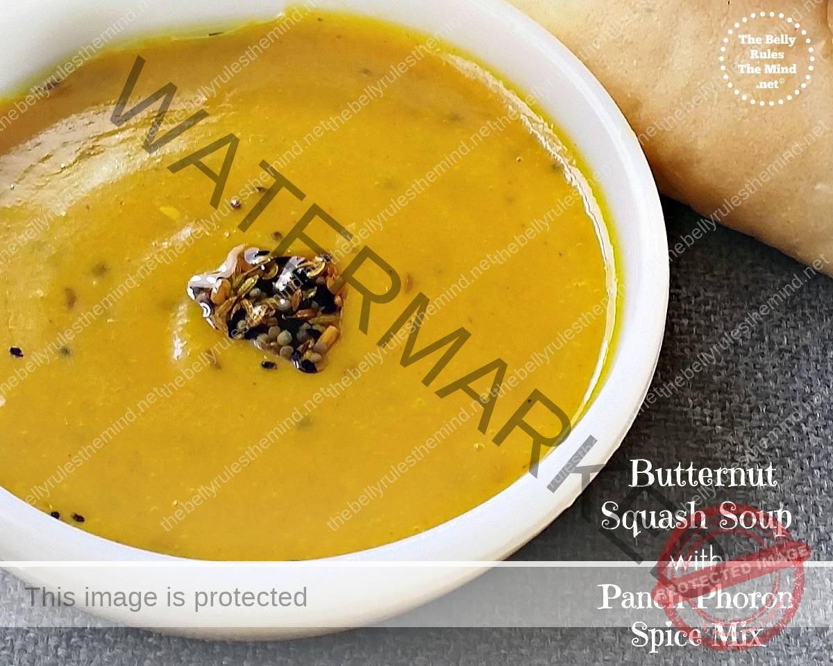 Paanch-Phoron Butternut Squash Soup | The Belly Rules The ...