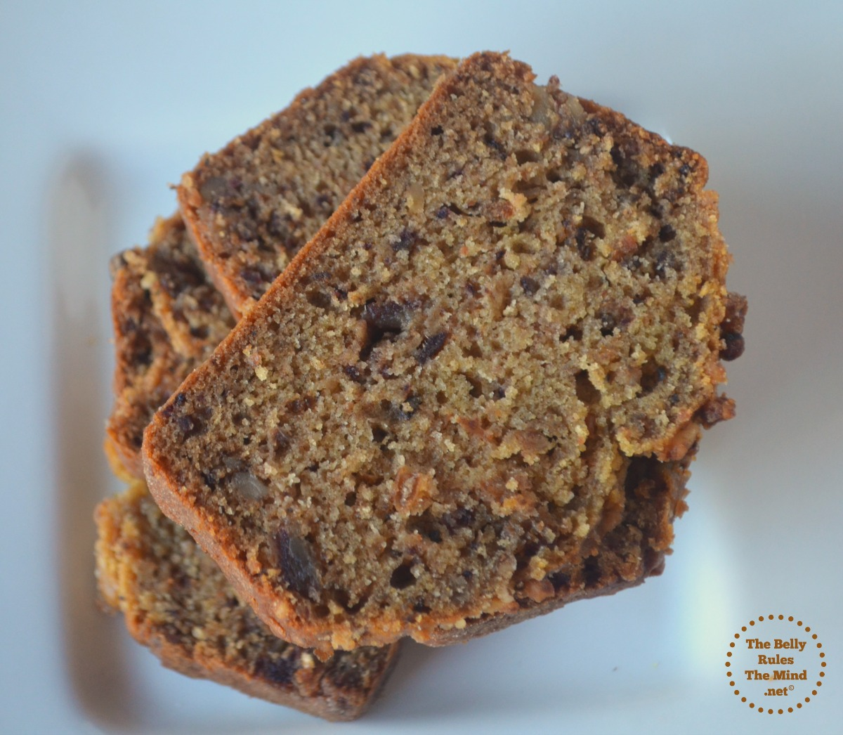 date and walnut loaf cake