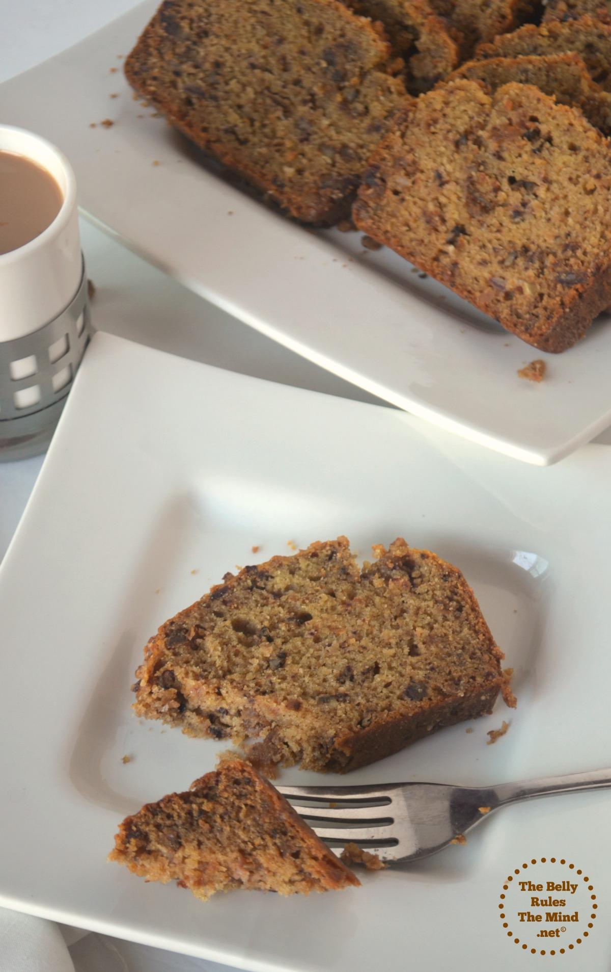 Date & Walnut Loaf Cake(No-Egg,No-Butter & No Refined Sugar)