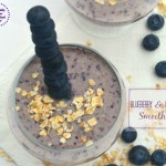 Blueberry ,Banana & Oat Smoothie