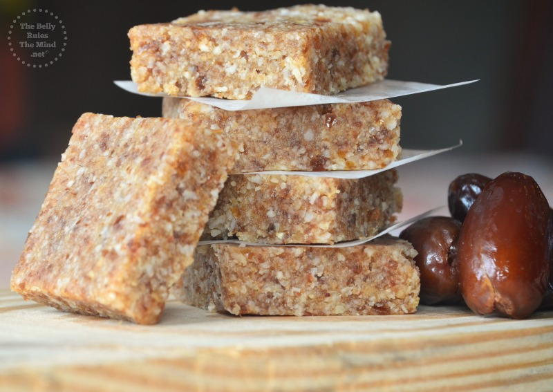 Almond & date snack square
