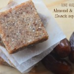 Home-made Almond & Dates Snack Squares