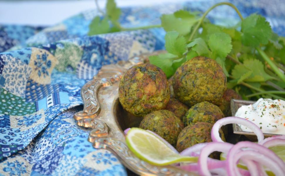 No Fry Hara Bhara Kebab / Green Vegetable Patty