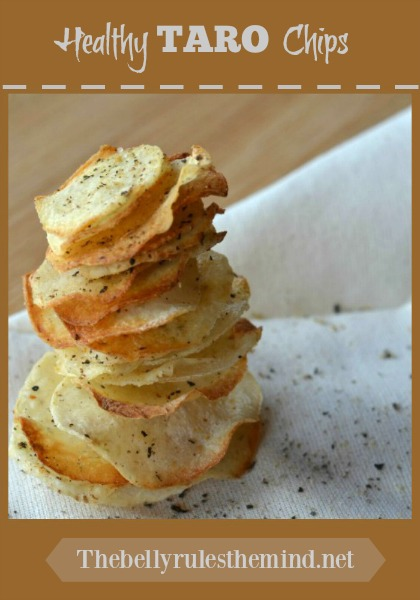 Healthy Baked Taro root /Arbi chips