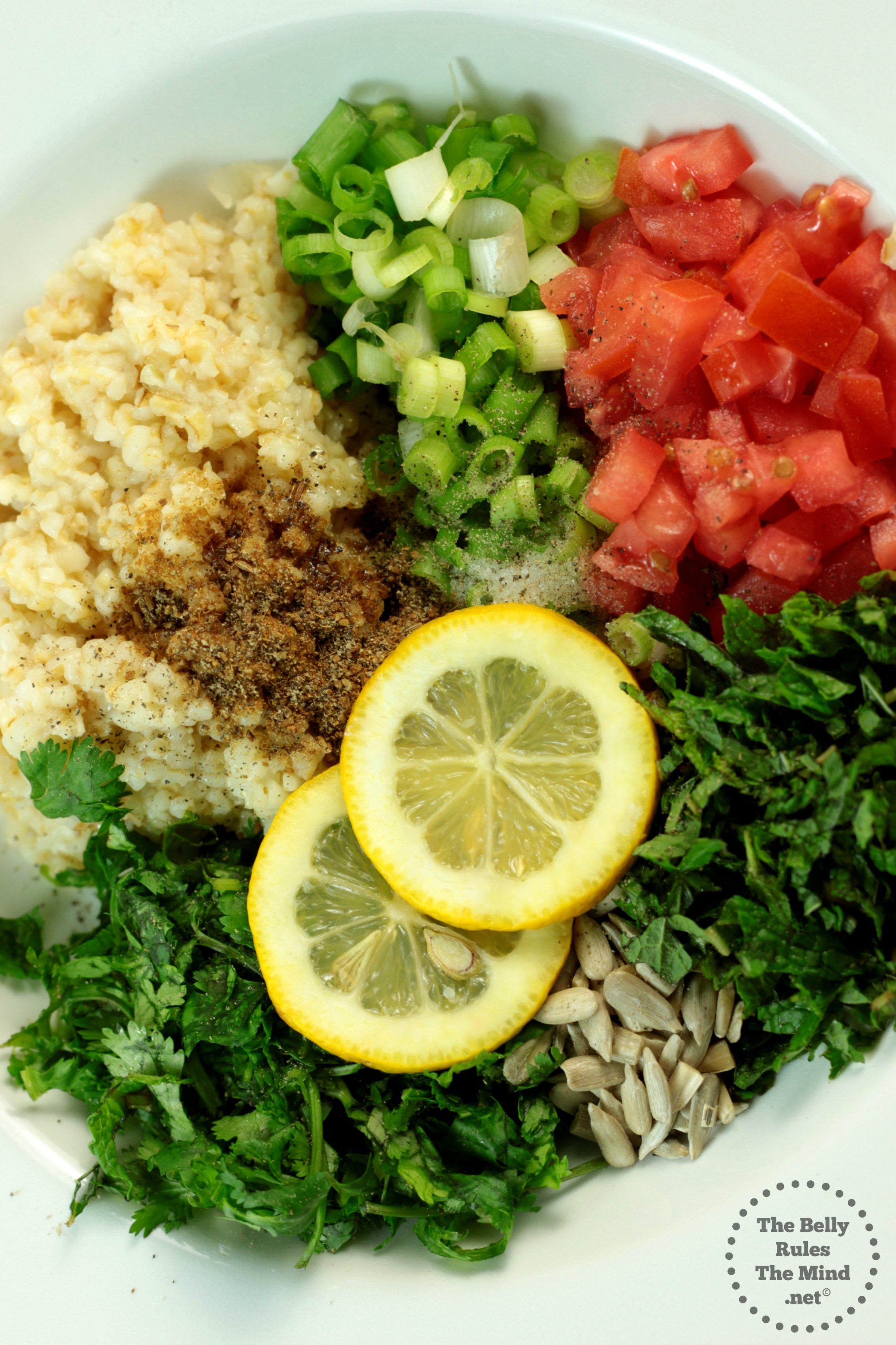 Tabouleh Ingredients chopped