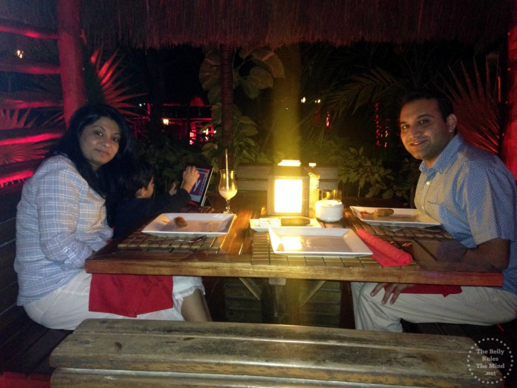 Dinning at Elephenta Cancun