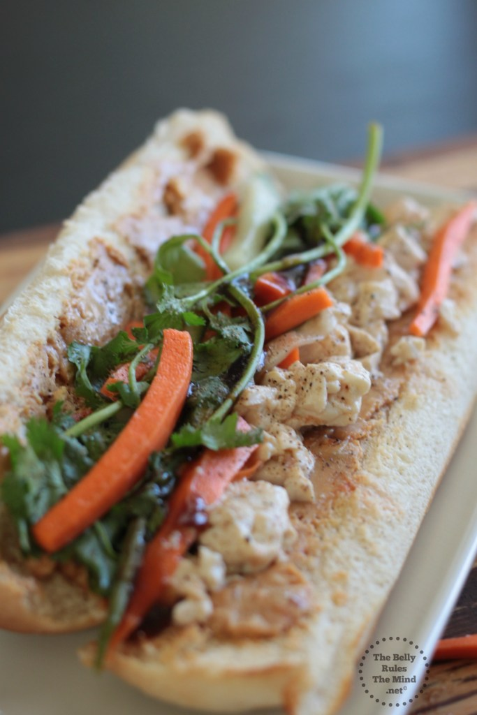 Bahn Mi Sandwich with Lemongrass Tofu