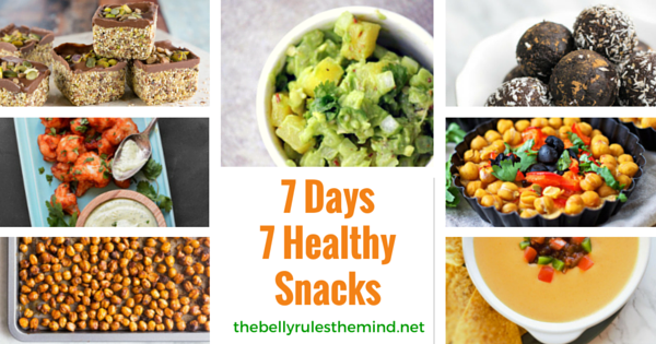 7 Days 7 Healthy Snacks