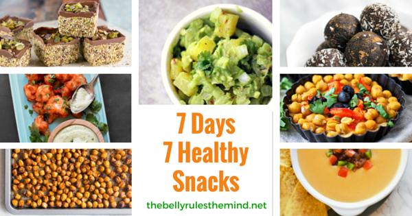 7 Days 7 Healthy Snacks
