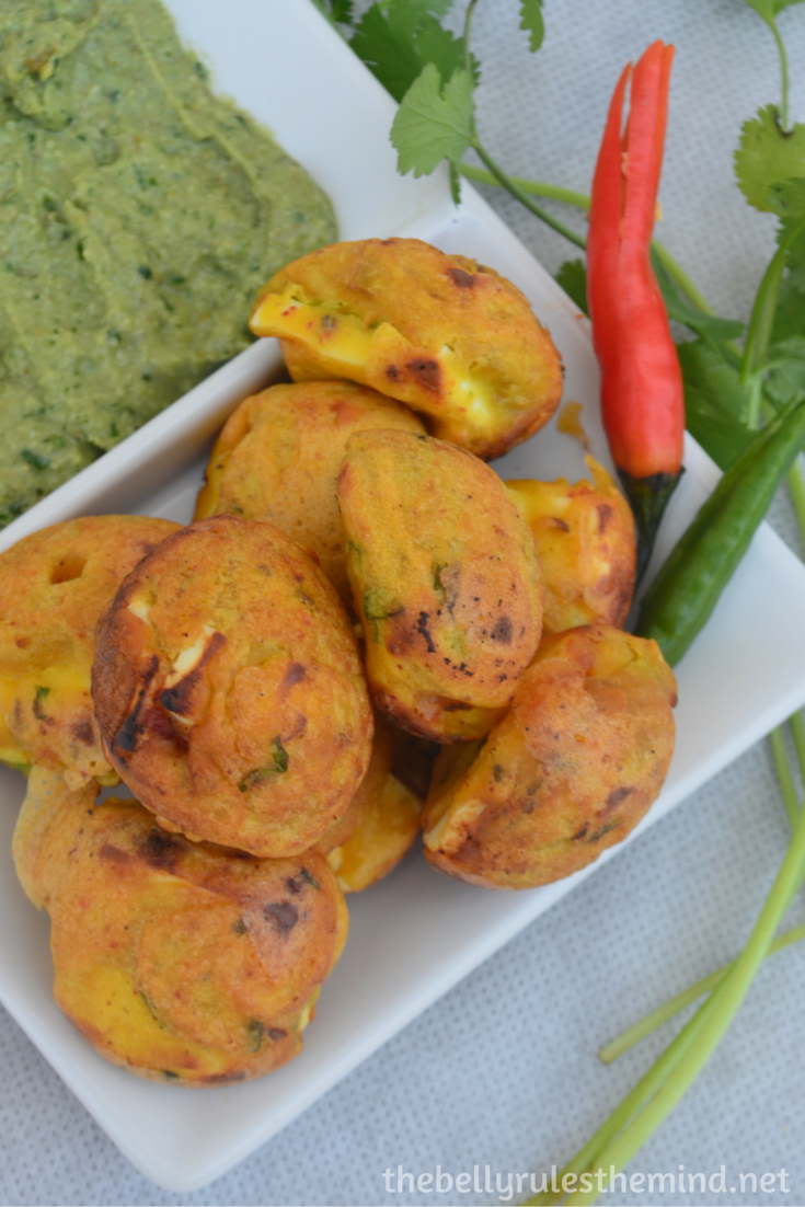 Stuffed Paneer pakoda- ( made in appe pan) (6)