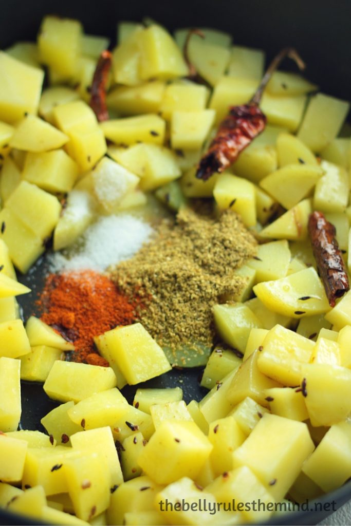 Aloo Methi (Potatoes with Fenugreek Leaves) | The Belly ...