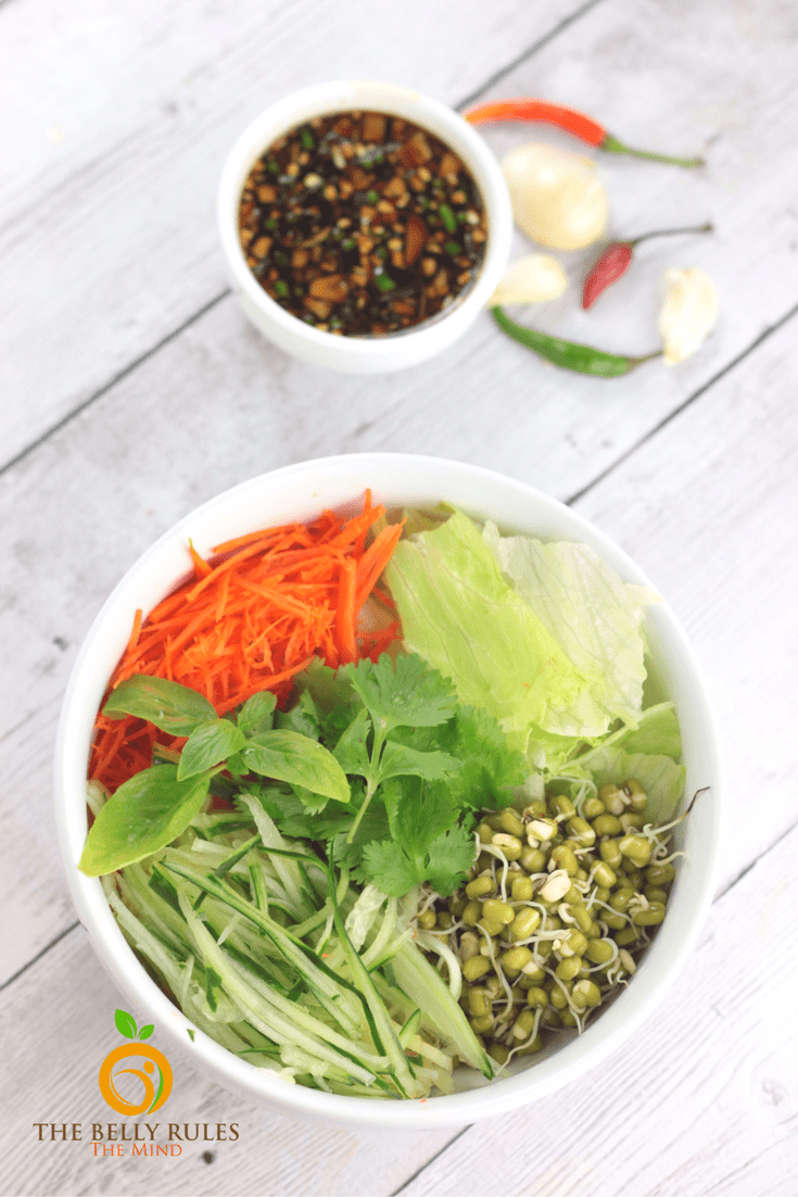 moong salad with indo chinese sauce