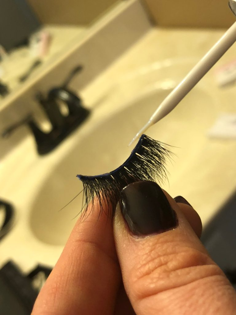 744700eaa04 Lashes come last! First, you'll probably need to trim your lashes so that  the length fits nicely across your natural lashes.