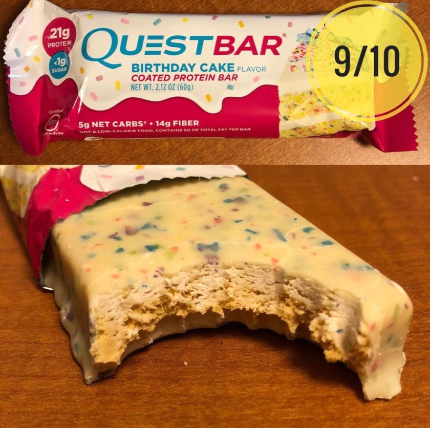 Quest Bar Birthday Cake Flavour
