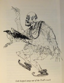 Brian Wildsmith 1962 illustration to Roger Lancelyn Green's Myths of Norsemen