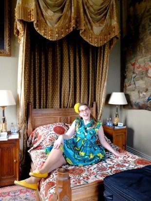 Sarah McIntyre in her tower bedroom
