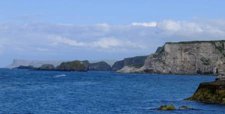 View from Ballintoy of Larrybane Head -Storms End in the show.