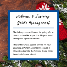 12 Days of Christmas – Training Guide Management
