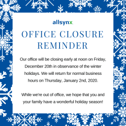 Holiday Office Closure Reminder